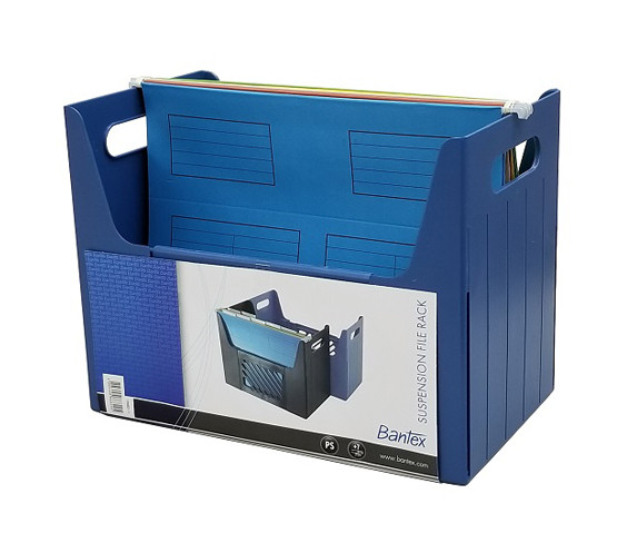 辦得事 19682 桌面文件掛袋存放架 A4 - 藍色