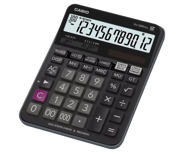 卡西歐 DJ-120D Plus (12位) 桌上計算機