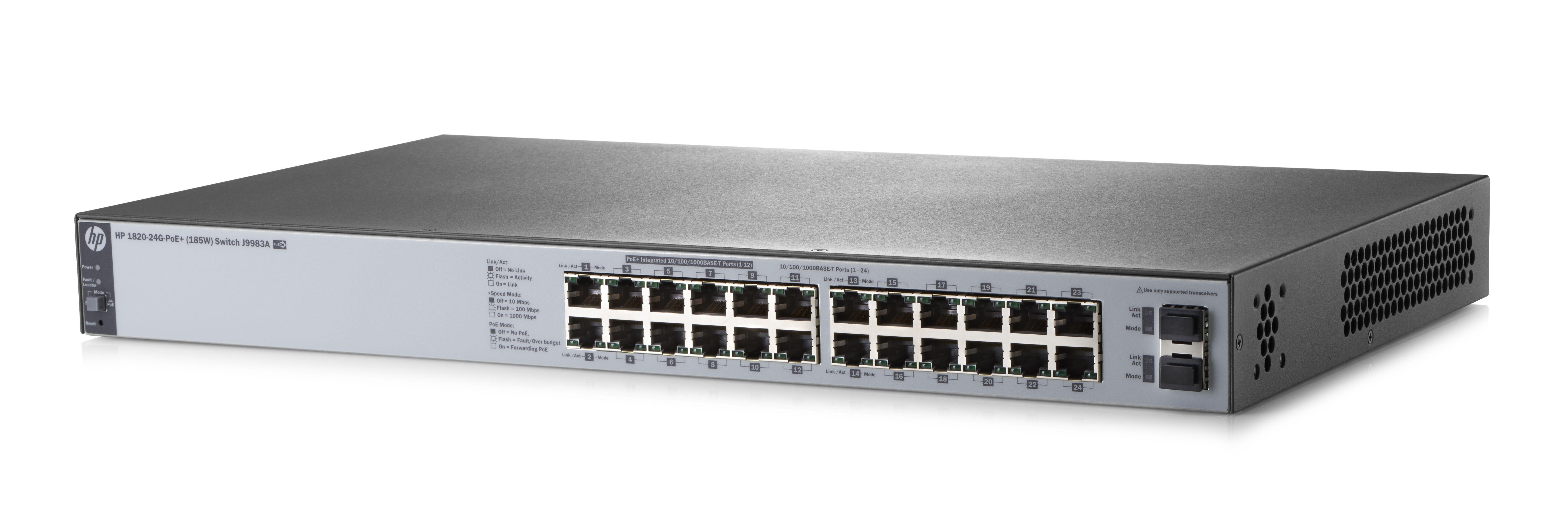 HP J9983A HPE 1820-24G-POE+ (185W) SWITCH