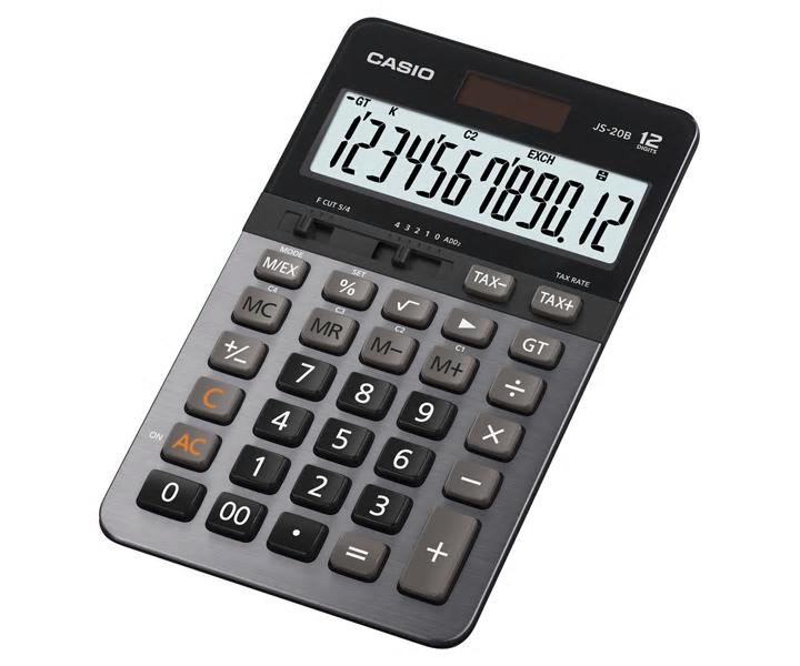 卡西歐 JS-20B (12位) 桌上計算機