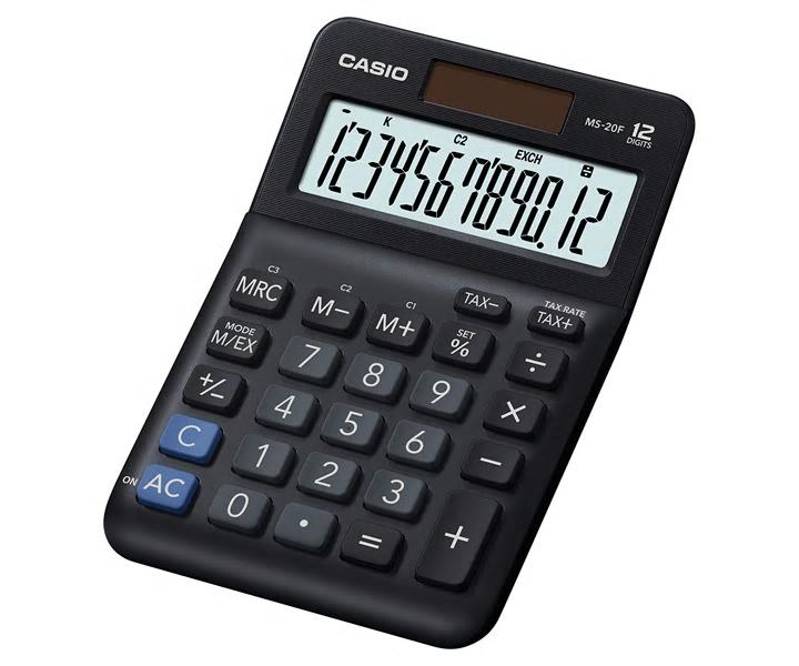 卡西歐 MS-20F (12位) 桌上計算機