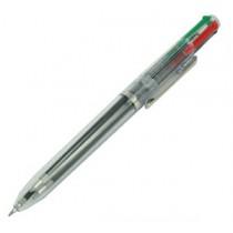 班馬牌 4C-T 透明桿四色按制原子筆