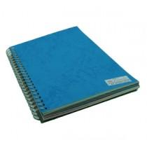 480gsm 單面皮紋夾咭 A4 - 藍色 (50張裝)