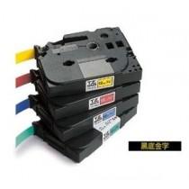 BROTHER TZe-334 12mm x 8M 特強保護層標籤帶 (黑底金字)