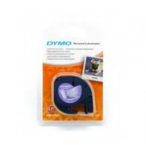 DYMO 12267 Letra Tag 機用標籤帶 (透明底黑字)