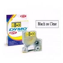 DYMO SC43610  D1 標籤帶  6mm x 7M (透明底黑字)