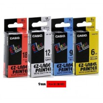 卡西歐 XR9RD1 9mm 標籤帶 (紅底黑字)