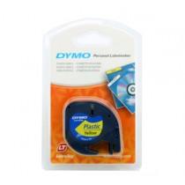 DYMO 91202 Letra Tag 機用標籤帶 (黃底黑字)