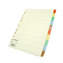 易達 44878 A4  十級彩色膠質分類索引