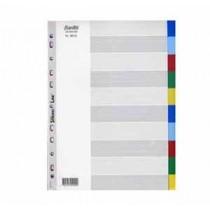 辦得事 6010 A4 十級彩色膠質分類索引 (加厚)