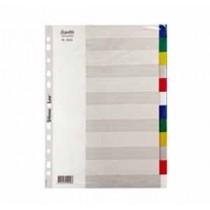 辦得事 6022 A4 十二級彩色膠質分類索引