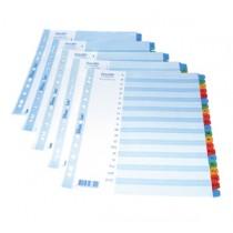 辦得事 6235 A4 咭紙質分類索引  (1- 5)