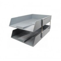 304-15  F4 雙層文件盤 - 灰色