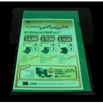 E355 F4 透明文件套 - 綠色