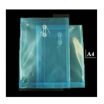 A4 透明有繩公文袋 - 藍色