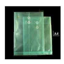 A4 透明有繩公文袋 - 綠色