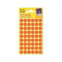 詩藝寶 3147 圓點標貼  12mm - 熒光紅色 (270個裝)