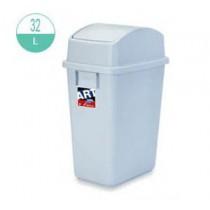 414 長方型搖蓋式灰色廢紙膠桶