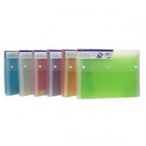 易事美 ED4308 / 4313F 彩色磨砂風琴文件袋 - F4