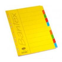 辦得事 6050 A4 十級彩色紙質分類索引