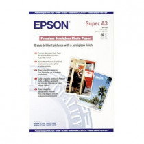 EPSON S041328 PREMIUM SEMI GLOSSY PHOTO PAPER A3+ (20 Sheets)
