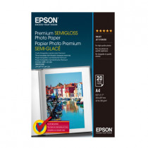 EPSON S041332 PREMIUM SEMI-GLOSSY PHOTO PAPER A4 (20 Sheets)