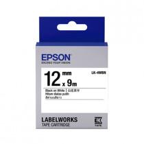 EPSON C53S654401 (LK-4WBN) BLACK ON WHITE 12MM LABEL
