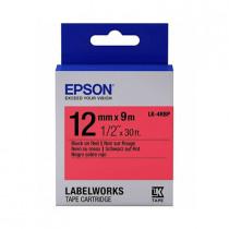EPSON C53S654403 L5-4RBP BLACK ON RED 12MM LABEL