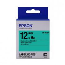 EPSON C53S654405 (LK-4GBP) BLACK ON GREEN