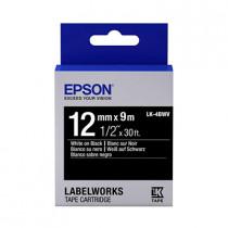 EPSON C53S654415 (LK-4BWV) WHITE ON BLACK 12MM TAPE