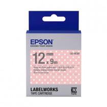EPSON C53S654424 (LK-4EAY) GRAY ON PINK POLKA DOT 12MM TAPE