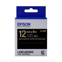 EPSON C53S654407 (LK-4BKP) GOLD ON BLACK 12MM TAPE