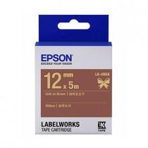 EPSON C53S654439 (LK-4NKK) GLOD ON BROWN 12MM TAPE