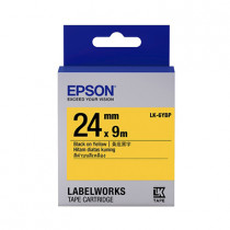 EPSON C53S656404 (LK-6YBP) BLACK ON YELLOW 24MM