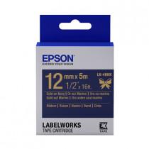 EPSON C53S654429 (LK-4HKK) GOLD ON NAVY BLUE 12MM