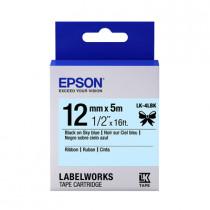 EPSON C53S654437 (LK-4LBK) BLACK ON SKY BLUE 12MM TAPE