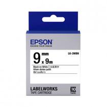 EPSON C53S653401 (LK-3WBN) BLACK ON WHITE 9MM LABEL