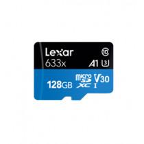 LEXAR MICROSDXC 633X 128GB W/SD ADAPTER U3 (LSDMI128BBAP633A)