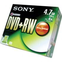 SONY DVD+RW 4.7GB 120MIN 4X 單片裝
