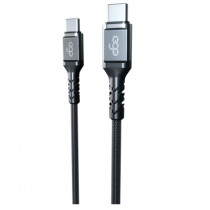 EGO TYPE-C TO TYPE-C 100W PD CABLE 20CM – GREY (CC20-02GREY)