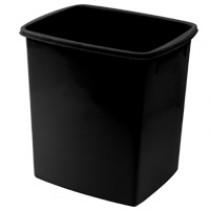 方型輕便廢紙膠桶 - 黑色