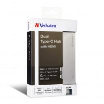 VERBATIM TYPE-C HUB WITH HDMI – GREY (65600)