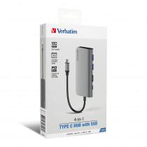 VERBATIM 4-IN-1 TYPE-C HUB WITH 120GB SSD (66446)