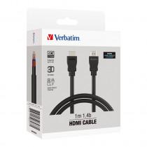 VERBATIM V1.4B HDMI TO HDMI CABLE 100CM – BLACK (66577)