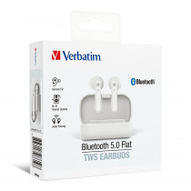 VERBATIM TWS 5.0 EARPHONE – WHITE (66619)