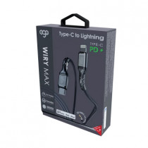 EGO Type-c To Lightning 26W PD CABLE 20CM – GREY ( CLT-02GREY)