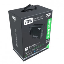 EGO PD-510 70W PD x QC3.0 WALL CHARGER – BLACK (PD-510)