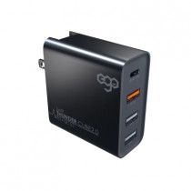 EGO 50W 4-PORT PD+QC TRAVEL CHARGER – BLACK (WTTC-16)