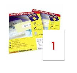 SMART LABEL CT2586LC1-10 A4 LASER CLEAR LABEL (1'S)