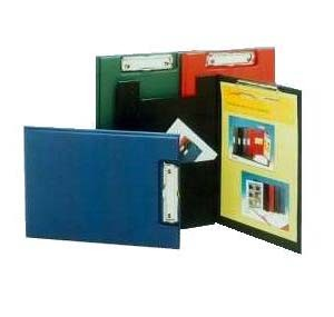731  F4 藍色包膠單板夾